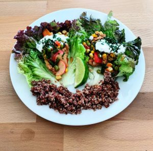 meatless mexican lettuce wraps