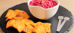 Beet and walnut dip