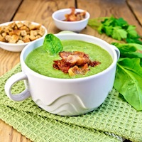 Smoky Romanesco, Celery Root and Broccoli Soup