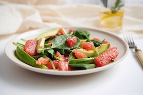 Pink Grapefruit, Avocado, and Watercress Salad
