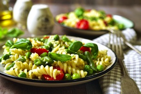 Pasta with White Beans, Tomatoes, and Escarole