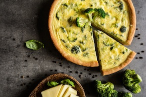 Broccoli and Garlic Quiche