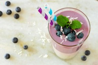 Coconut- Blueberry Smoothie