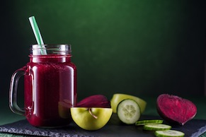 Flu- Fighting Beet and Cucumber Juice