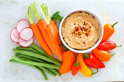 Summer Squash Hummus Dip