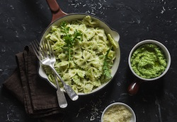 Pasta with Garlic-Scape Pesto