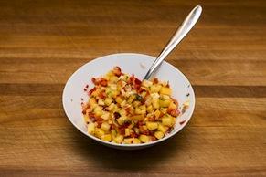 Arugula, Tomato and Nectarine Salsa