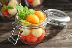 Fruit Pickle Brine-Melons, Strawberries and Stone fruit