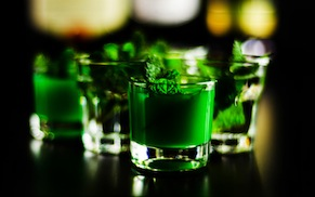 Green Shamrock Shots