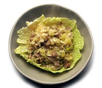 Cabbage-Sausage Risotto