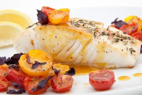 Halibut With Tarragon And Blood Oranges