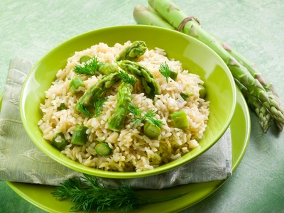Asparagus And Brie Risotto