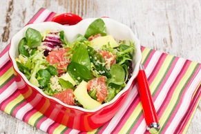 Quinoa Salad with Grapefruit, Avocado, and Arugula