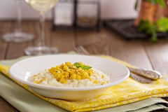 Sweet Corn Risotto with Summer Squash
