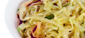 Grilled Green Cabbage Slaw