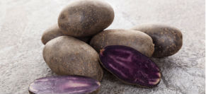 Vegetarian Purple Potatoes with Onions and Mushrooms