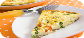 Baked Asparagus and Red Pepper Frittata
