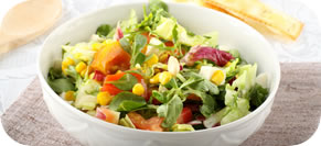 BLT Chopped Salad with Corn, Feta and Avocado