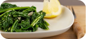 Spinach and Mushrooms with Truffle Oil