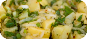 Warm Potato Salad with Grainy Mustard Vinaigrette
