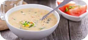 Broccoli, Red Pepper, and Cheddar Chowder