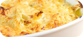 Mashed Potato and Cauliflower Gratin
