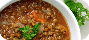 Lentil Soup with Italian Sausage and Escarole
