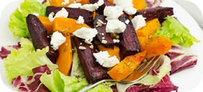 Beet, Rhubarb, and Orange Salad
