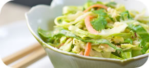 Cabbage and Corn Slaw with Cilantro Orange Dressing