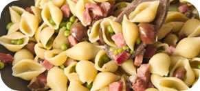 Orecchiette with Cauliflower and Peas