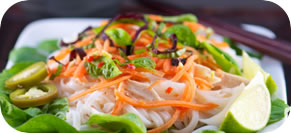 Thai Chicken Salad with Rice Noodles