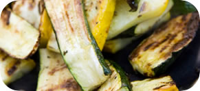 Grilled Zucchini and Summer Squash Salad with Basil-Parmesan Dressing