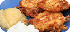 Latkes with Lox Sauce