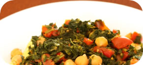 Chick Peas and Swiss Chard