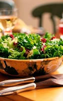 Leaf Lettuce, Pomegranate, Satsuma and Cashew Salad