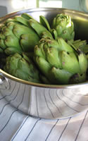 Pan Roasted Artichoke with Garlic and Lemon