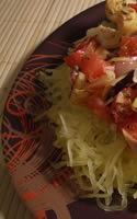 Spaghetti Squash with Chopped Tomato and Feta