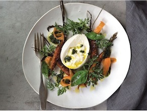 Roasted Carrots Salad with Burrata