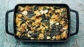 Turnip and Kale Gratin